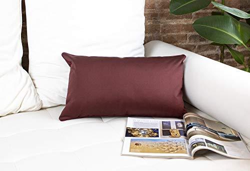 DiseLio 1 Funda de Cojín 100% Algodón Color Teja 30 x 50 cm. Cojines Decorativos con Cordón Vivo al rededor Que destaca su Elegancia. (Made in Spain) (1cl.lis.v-tj30)