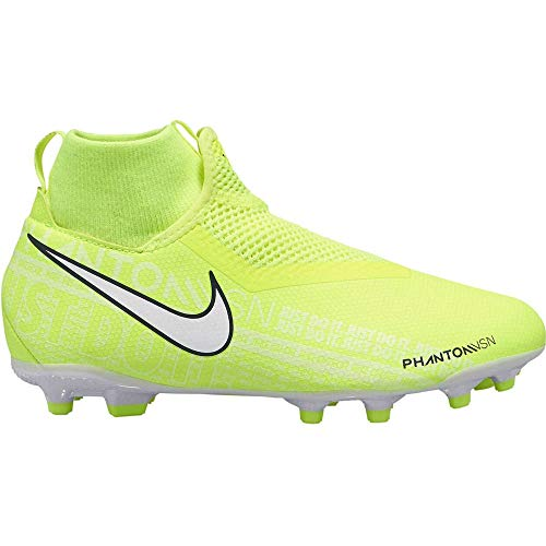 Nike Jr Phantom Vision Academy Dynamic Fit Mg Chaussures De Football Mixte Enfant Vert Volt White Volt 717 37 5 Eu