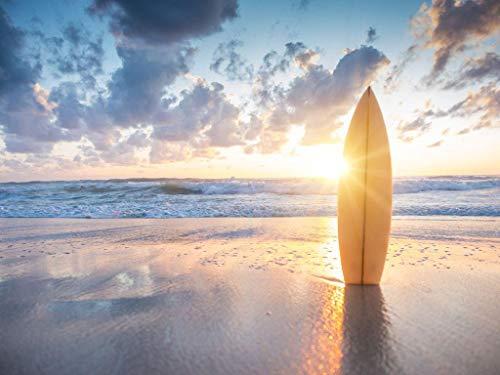 Rompecabezas 1000 Piezas Adultos Madera Puzzle Tabla De Surf Enchufada En La Playa Niños Juguetes Educativos para Moderna para El Hogar Decoración