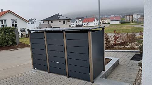 Mülltonnenhaus, Müllbox, Mülltonnenbox Metall, Müllbehälterverkleidung, - 2