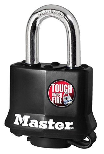 Master Lock 【正規輸入品】 カバー付南京錠 ブラック 鍵4本付 311JAD