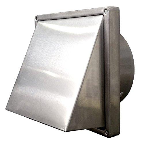 Außenhaube aus Edelstahl, 150mm, mit Schalldämpfer für lautloses Öffnen und Schließen