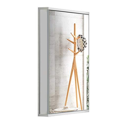 Spiegelschränke Bad Home eckspiegelschrank Bad dreieckspiegelschrank wandspiegelschrank mit licht (Color : White (Without Light), Size : 47 * 70 * 33cm)