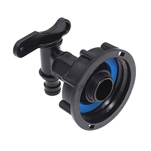 YUNB IBC - Adaptador de Tanque a depósito de Agua de 15 mm, para Manguera, válvula, Conector, Grifo, Patio, jardín, Tap (Negro)