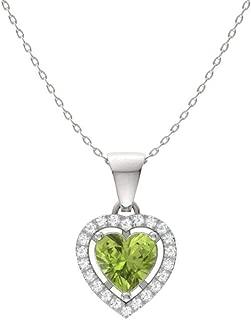 1 carat heart necklace