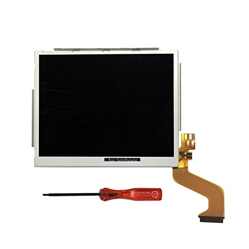 lenboes - Pantalla LCD de Repuesto para Nintendo DSi NDSi XL LL con Herramienta de Apertura