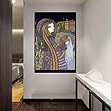 JLFDHR Impresión sobre lienzo 60x80cm sin marco Acuario Arte de la pared Impresión moderna en con el hogar adornado a mano