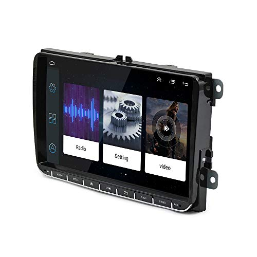 EZoneTronics Android 8.1 Autoradio Stereo Kompatibel mit VW Passat Golf MK5 MK6 T5 EOS POLO Touran Sitz Sharan 9 '' Touchscreen GPS Navigationskopf Bluetooth WIFI USB AM FM Spiegel Link Player 16G ROM