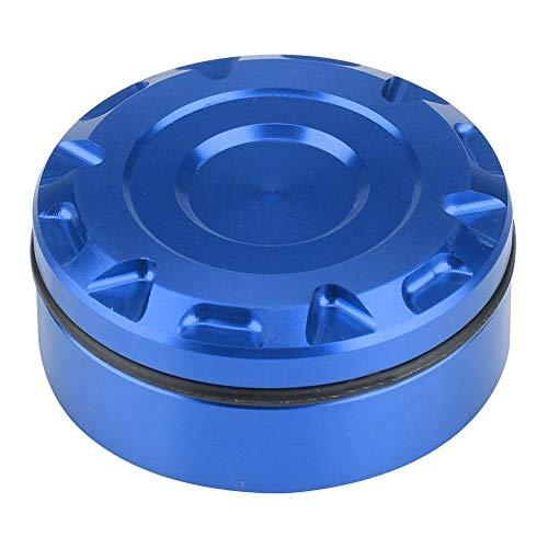 Cubierta de aceite de freno Aramox, tapa de depósito de líquido de freno trasero, tapa de depósito de líquido de freno trasero de motocicleta para Z1000sx MT-07 MT-09(Azul)