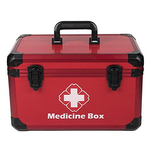 QXTT Medizinkoffer Erste Hilfe Koffer Medizin-Box Aufbewahrungsbox Medikamentenbox Arzneimittel-Box Intelligente Induktion Medizinbehälter Mit Tragegriff Tragegurt