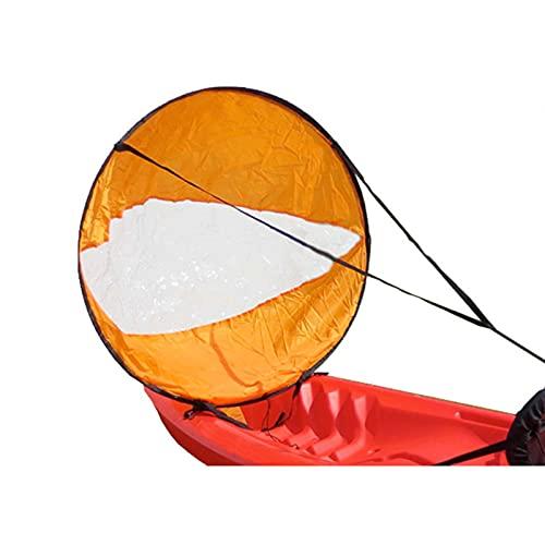 FHXY Downwind vela kayak especial vela 118 cm amarillo vela canoa SUP paddle board vela luz portátil plegable vela