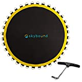 SkyBound Premium Trampoline Replacement Mat, Fits 14 Foot Frames w/Spring Tool, UV Sunguard for Longer Lasting Stitching, Durable V-Rings, Bounce Safely with Extra Rows of Stitching