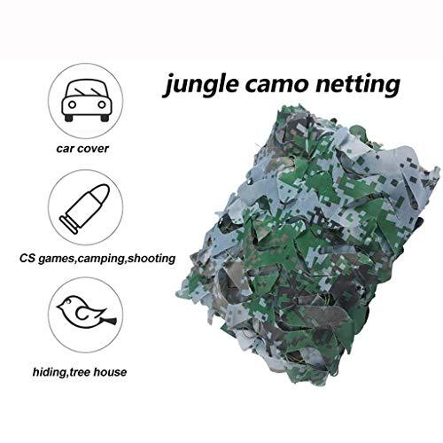 MJHETCY Chasse Filet De Camouflage, Filets De Camouflage Extérieurs, Anti-UV Parasol Net Net Tree House CS Jeu Camping Randonnée Tir Sun Shelter Party Decoration(Size:5 * 6M)