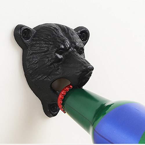 WILLBAN Sea Star Fonte Montage Mural Grizzly Bear Dents Morsure Ouvre-Bouteille Mural Vin Soda Ouvre Outils Bar Ouvre-Bière Accessoires Maison Cuisine Articles De Fête