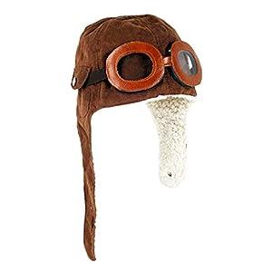 Xrten Sombreros y Gorras para Bebés Niño, Niños Sombrero de Aviador con Gafas, Gorro de Invierno Unisex para Bebé