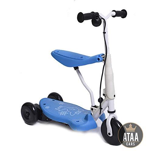 ATAA Elektrisches Dreirad Chick - Blau - Elektroroller für Kinder mit 6V Batterie