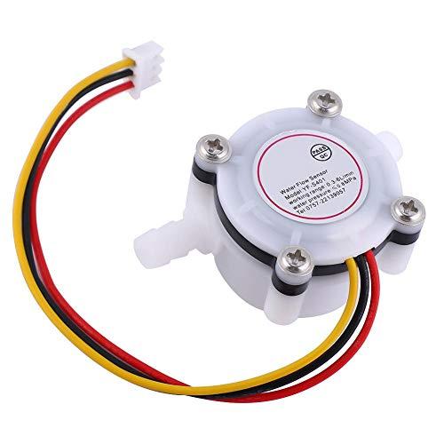 Durchflussmesser mit Durchflusssensor und Widerhaken, 1 Stücke Wasser Hall Flow Effect Sensor Control Durchflussmesser mit Widerhaken Joint