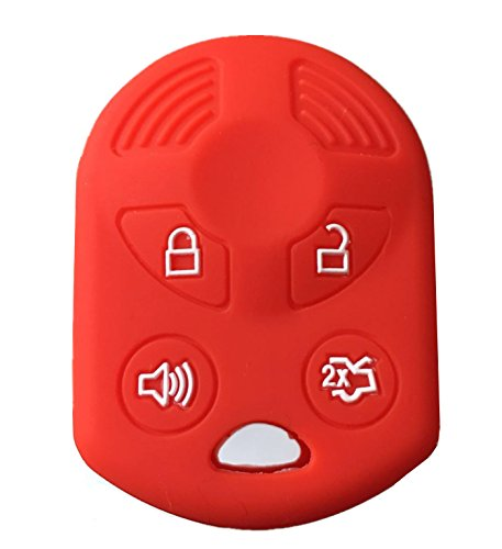 KAWIHEN Silicone Key Fob Cover Compatible with Ford Lincoln Mercury 4 buttons...
