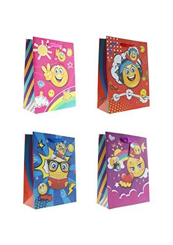 10 Geschenktüten medium Smiley 17,5 x 23,5 x 8 cm Geschenktaschen Geschenkbeutel Taunus Grußkarten Verlag 99-0525-2