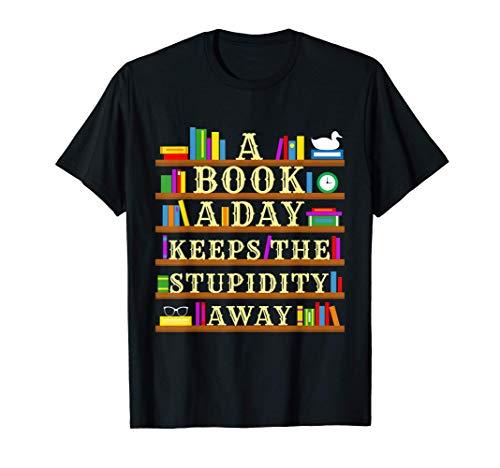 Buchleser, lustiges Lesen Design, Bibliothekare Bücherwurm T-Shirt