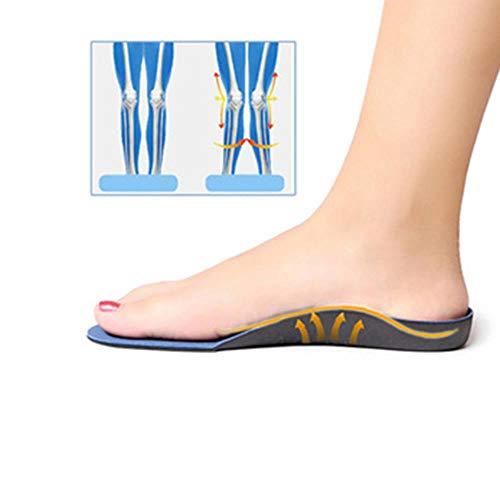 MOVAL Codo inverso ortopédica, Plantillas ortopédicas, enfermería Plantar, Mezclado,Azul Unisex,Abuela 35-37XS