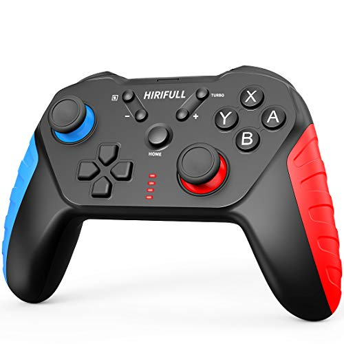 HIRIFULL Wireless Controller for Nintendo Switch/Lite, Remote Joypad Gamepad with 6 Axis Gyro, Turbo,Dual Vibration Function for Nintendo Switch Controller, Remote Nintendo Switch Lite Controller