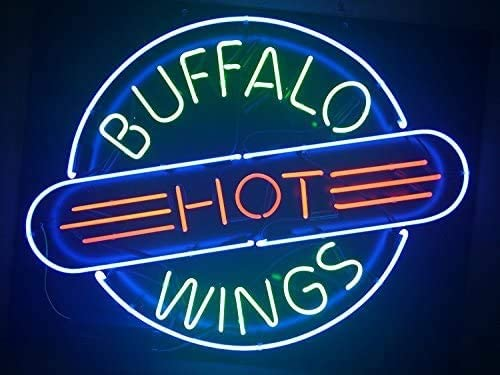 Amymami Max 48% OFF Beer Bar New 24inx20in Buffalo Sign Hot Mult Neon Wings Branded goods