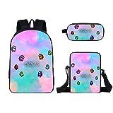 Rudxa Among us mochila escolar, mochila con impresión 3D, mochila de bolsillo para estudiantes niños adolescentes, regalos para fanáticos de los juegos, 3 unids / set (F)