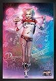 1art1 Suicide Squad Poster und MDF-Rahmen - Harley Quinn,