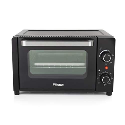 Tristar OV-3615 Mini-Ofen, zum Grillen, Backen und Toasten, 60 Minuten-Timer, Kapazität 10 Liter, 800 Watt Leistung, Schwarz.