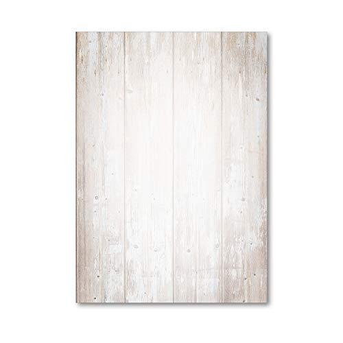 Holz Motiv-Papier Set I 50 Blatt in DIN A4 I Briefpapier Schreibpapier Briefbogen für Urkunden Einladung Geburtstag Speisekarten I dv_522