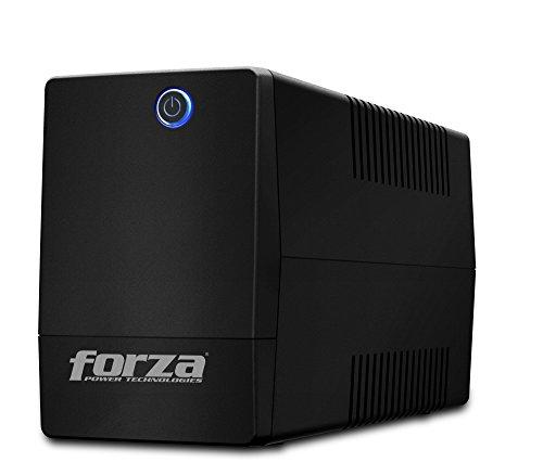 Forza- UPS 1000VA- 500W Battery Backup, Surge Protector- Uninterruptible Power Supply- 6 Outlets