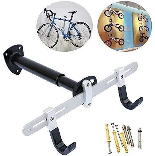 FANLIU Innenraum Fahrradständer, Wandhalterung Aluminiumlegierung Fahrradträger Aufhänger Fahrradständer Haken for Rennrad, Mountainbike, BMX, Winkel Breite, Länge verstellbar