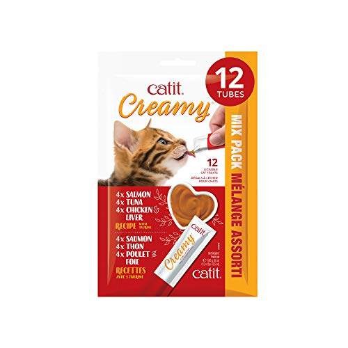 of catit cat foods dec 2021 theres one clear winner Catit Creamy Lickable Cat Treat, Healthy Cat Treat, Assortment, 12 Pack