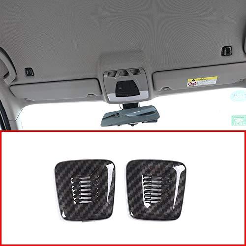 TRJGDCP Piezas de automóvil ABS fibra de carbono interior techo cúpula micrófono cubierta TRIM Accesorios para BMW F30 F32 F07 F10 F15 F12 F25 X3 X5 3 4 5 6 series