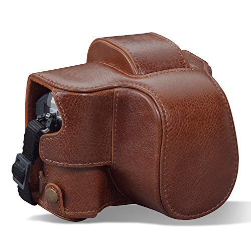 MegaGear MG1933 Ever Ready Genuine Leather Camera Case compatible with Olympus OM-D E-M10 Mark IV - Brown