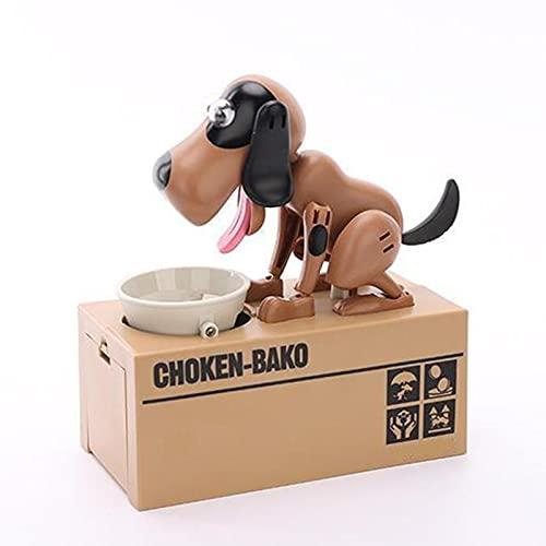 XIHUANNI Kleiner Hund Mops-Bank, batteriebetriebenes Roboter-Münzspielzeug, Spardose, Spardose für Kinder