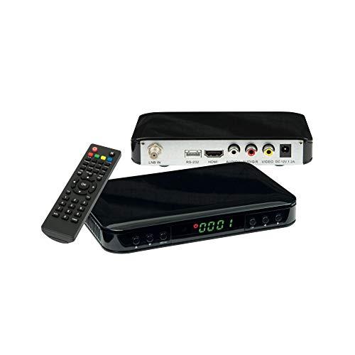 Labgear VSAT01 HD Free-to-Air Satelliet Ontvanger DVB-S en DVB-S2 Voldoet aan USB 2.0 poort voor PVR, Tijdverschuiving en timer