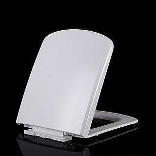 Mtg Abattant de WC avec charnières à dégagement Doux et épais Montage sur Le Dessus Abattant de WC carré Blanc 43~45,5 x 36