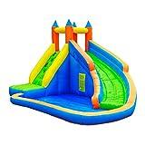 NOBLJX Castillos hinchables inflables, tobogán acuático para niños de la casa Puente...