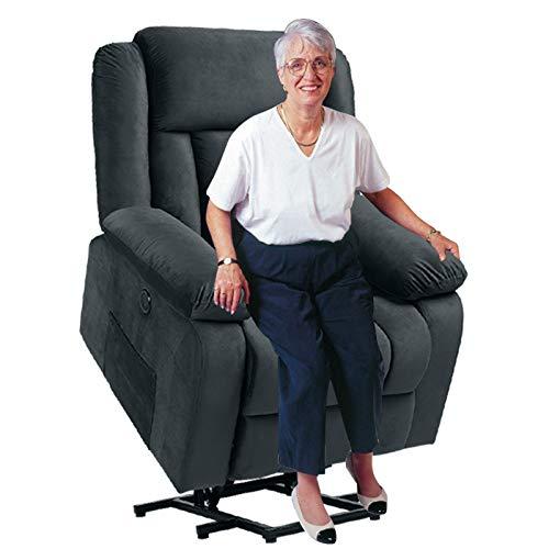 Power Lift Recliner Chairs for Elderly - Living Room Electric Recliner Lift Chairs for Elderly with Massage and Heating Remote Control   2 Side Pockets USB Ports