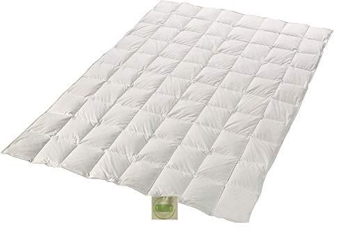 Öko Daune Sommerdecke 100% Daune recycelt nachhaltig ökologisch wertvoll Steppdecke vom Betten Fachgeschäft (155x220 cm) Klimaneutrales Produkt