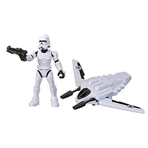 Star Wars Mission Fleet Gear Class Clone Trooper Arena Rescue 6,3 cm große Figur und Fahrzeug Spielzeug für Kinder ab 4 Jahren