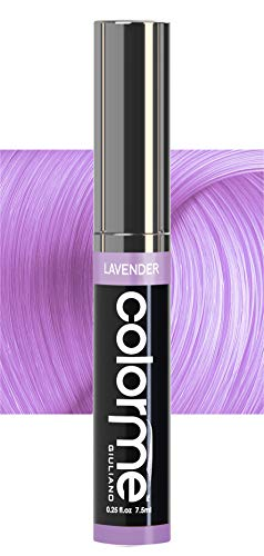 Colorme temporary hair color products are kid safe dye (Lavender) washes out. Boost touch-up, blend, or correct fading colour