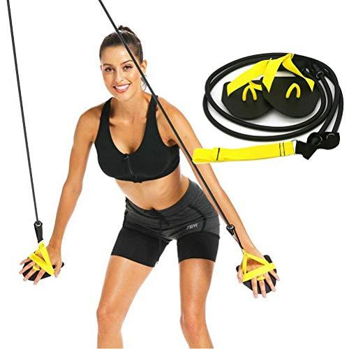 Mankoo Entrenador de fuerza de brazo de natación, aletas de pádel de natación, banda de goma profesional de entrenamiento de brazo de natación