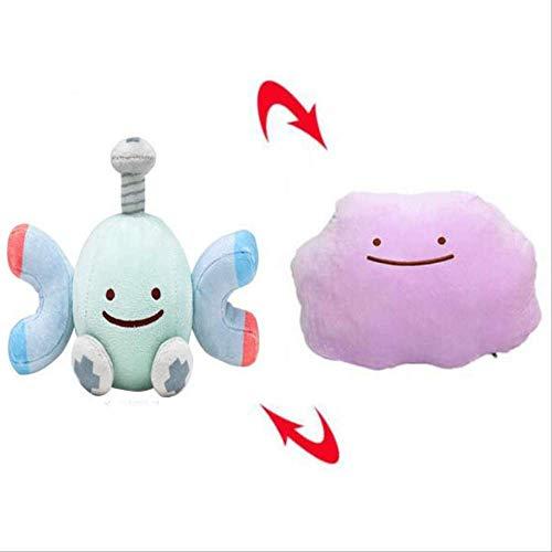 qwermz Weiches Spielzeug, 28 cm Plüsch Magnemite Doppelseitiges Kissen Ditto Magneton Geburtstagsgeschenk Kind