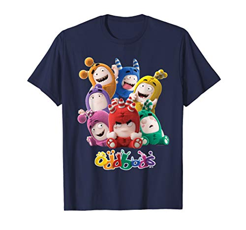Oddbods All 7 Characters in Cute Funny Poses T-Shirt