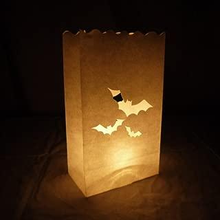 Quasimoon PaperLanternStore.com Bats Paper Luminaries/Luminary Lantern Bags Path Lighting (10 Pack)