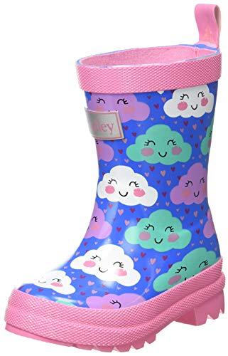 Hatley Jungen Mädchen Printed Wellington Rain Boots Gummistiefel, Fröhliche Wolken, 19 EU