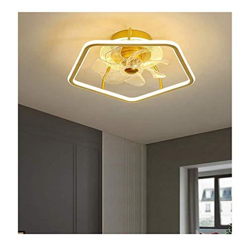 WOERD Ventilador de Techo con Iluminación Luz Creativo Regulable Moderna con Mando A Distancia 42W Ultra Silencioso Luz de Techo LED Moderna para Dormitorio Sala de Estar Comedor